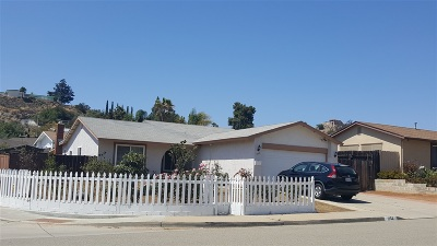 Escondido Single Family Home For Sale: 1552 Marjorie