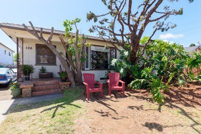 Chula Vista Single Family Home For Sale: 106 Oaklawn