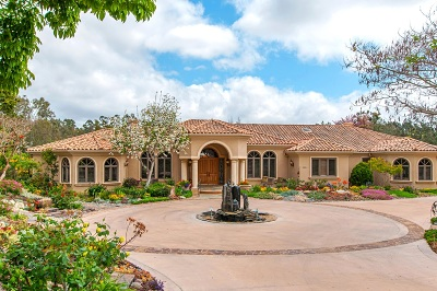 Fairbanks Ranch Single Family Home For Sale: 16651 Via De Los Rosales