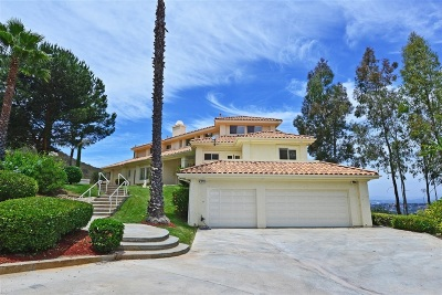 Poway Single Family Home For Sale: 12960 Glen Circle Road
