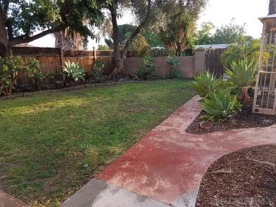 La Mesa Single Family Home For Sale: 4636 Lee Ave