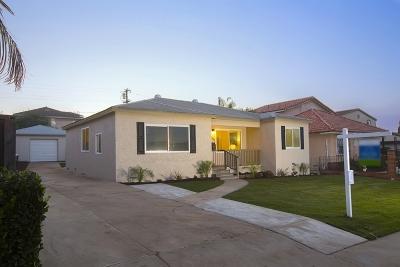 San Diego Single Family Home For Sale: 2434 Morningside Street