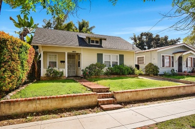 San Diego Single Family Home For Sale: 3821 Edna Pl