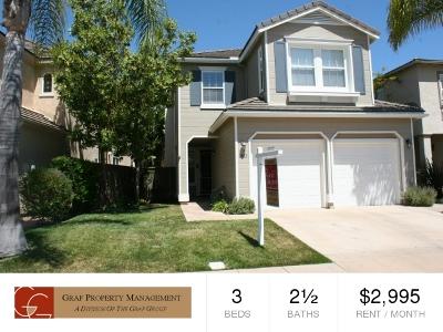 Oceanside,  Carlsbad , Vista, San Marcos, Encinitas, Escondido, Rancho Santa Fe, Cardiff By The Sea, Solana Beach Rental For Rent: 1403 Enchante Way