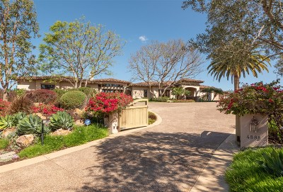 San Diego County Single Family Home For Sale: 4888 El Nido