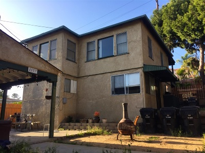 San Diego County Multi Family 2-4 For Sale: 3353-57 C St