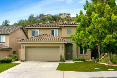San Marcos CA Single Family Home For Sale: $649,900