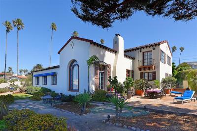 La Jolla Single Family Home For Sale: 6219 Camino De La Costa