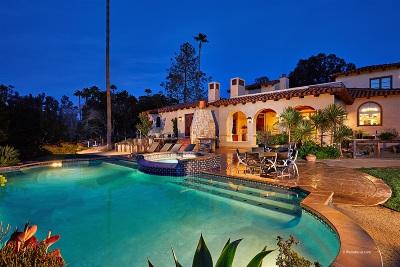 Rancho Santa Fe Single Family Home For Sale: 5856 Lago Lindo