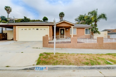 San Diego Single Family Home Pending: 7739 San Vicente St