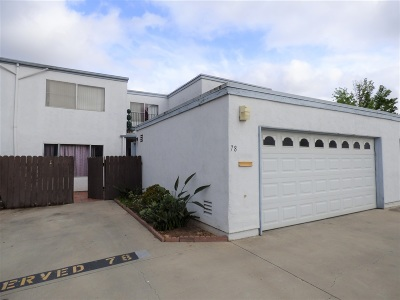 Chula Vista Townhouse For Sale: 1640 Maple Dr. #78
