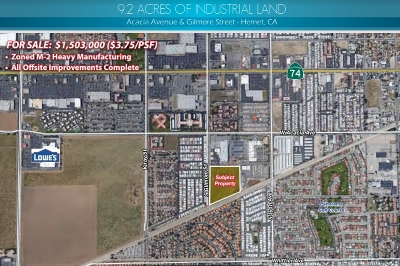 Riverside County Residential Lots & Land For Sale: Acacia Ave