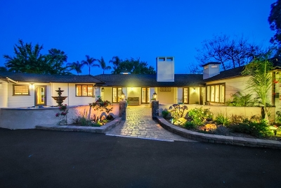 Rancho Santa Fe Single Family Home For Sale: 16705 Via De La Valle