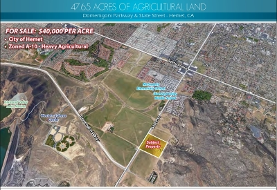 Riverside County Residential Lots & Land For Sale: Domenigoni Pkwy
