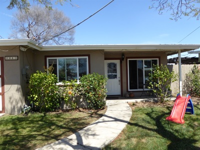 San Diego Single Family Home For Sale: 3843 Billman Street