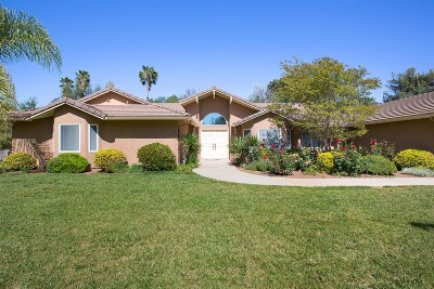 San Diego County Single Family Home For Sale: 30715 Ranch Creek Rd