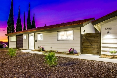 San Diego Single Family Home For Sale: 5520 Fontaine St