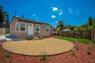 San Diego Single Family Home For Sale: 1643 Winnett St