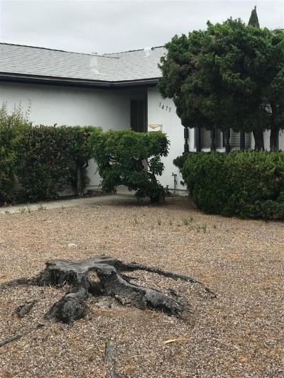 Chula Vista Single Family Home For Sale: 1475 Hilltop Dr