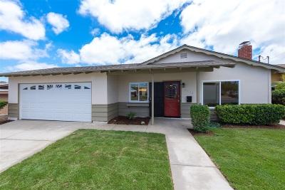 San Diego Single Family Home For Sale: 6113 Skyline Dr