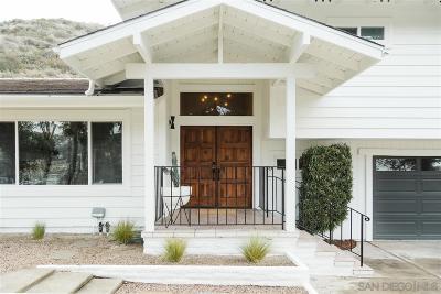 Escondido Single Family Home For Sale: 3548 Laurashawn Ln.