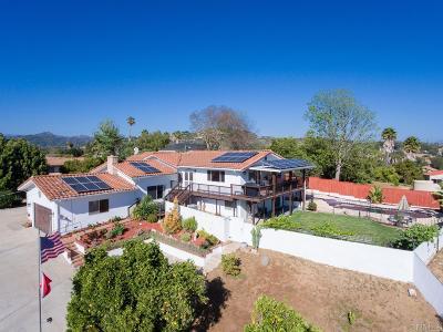 Escondido Single Family Home For Sale: 1345 Loma De Naranjas