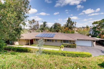 Escondido Single Family Home For Sale: 3435 Ryan Drive
