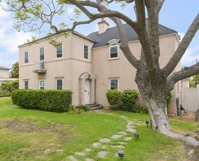 Coronado Single Family Home For Sale: 545 Alameda Blvd