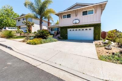 San Diego CA Single Family Home Back On Market: $940,000