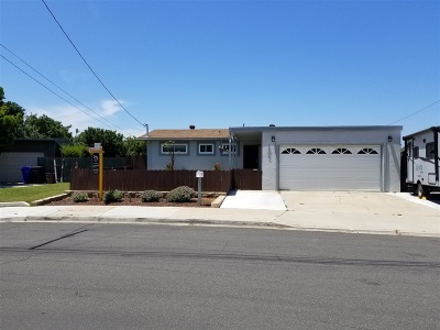 San Diego Single Family Home For Sale: 3704 Suffolk Dr