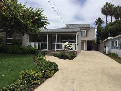 Pacific Beach Rental For Rent: 4007 Gresham Street #B