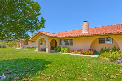 Bonsall CA Single Family Home For Sale: $949,000