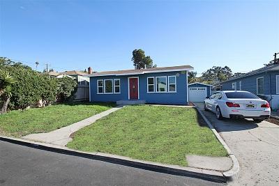 La Mesa Single Family Home For Sale: 7269 Vassar Ave