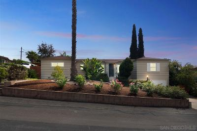 La Mesa Single Family Home For Sale: 7001 Neri