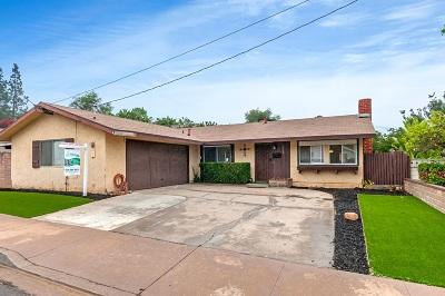 La Mesa Single Family Home For Sale: 5725 Lambda Lane