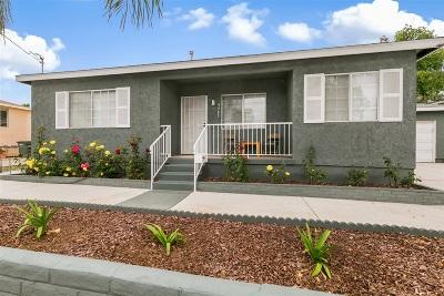 La Mesa Single Family Home For Sale: 4585 70th St
