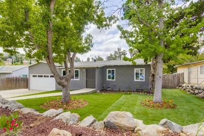 La Mesa Single Family Home For Sale: 4012 Calavo Dr