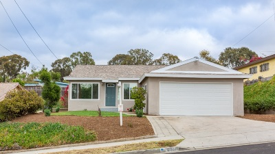 San Diego CA Single Family Home For Sale: $509,000