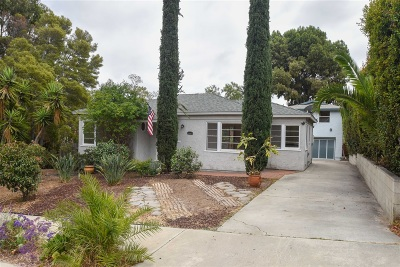 North Park, North Park - San Diego, North Park Bordering South Park, North Park, Kenningston, North Park/City Heights Single Family Home For Sale: 3097 Palm