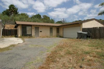 Escondido Single Family Home For Sale: 330 James Street
