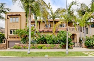 Coronado Single Family Home For Sale: 1615 San Luis Rey Avenue