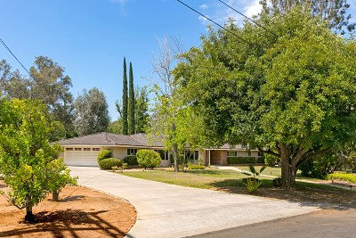 Poway Single Family Home Pending: 13517 Willow Run Road