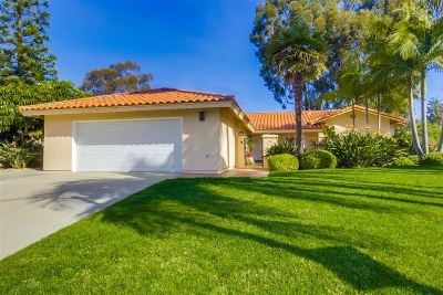 Solana Beach Single Family Home For Sale: 1158 Santa Rufina Ct