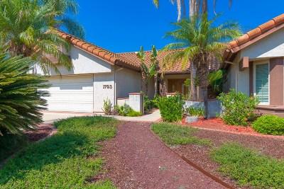 Escondido Single Family Home For Sale: 1723 Casero Place