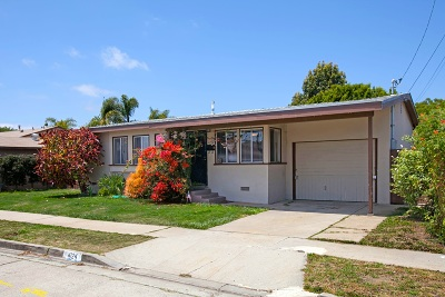 Clairemont Single Family Home For Sale: 4124 Rappahannock Ave