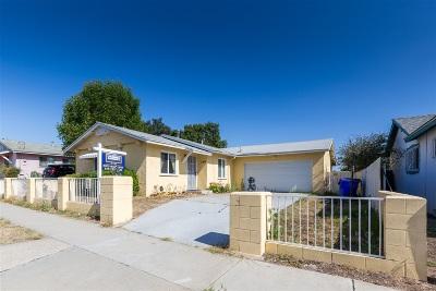 San Diego Single Family Home For Sale: 7846 Skyline Dr.
