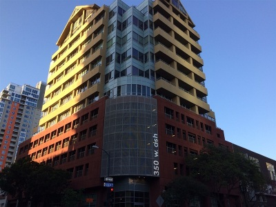 San Diego Attached Back On Market: 350 W Ash St #1108