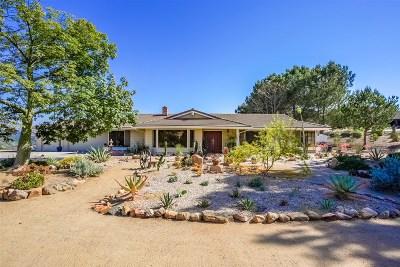 Escondido Single Family Home For Sale: 11447 Alps Way
