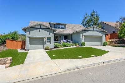 Escondido Single Family Home For Sale: 3122 Ridgeline Pl