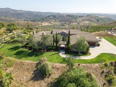 Bonsall CA Single Family Home For Sale: $1,999,999